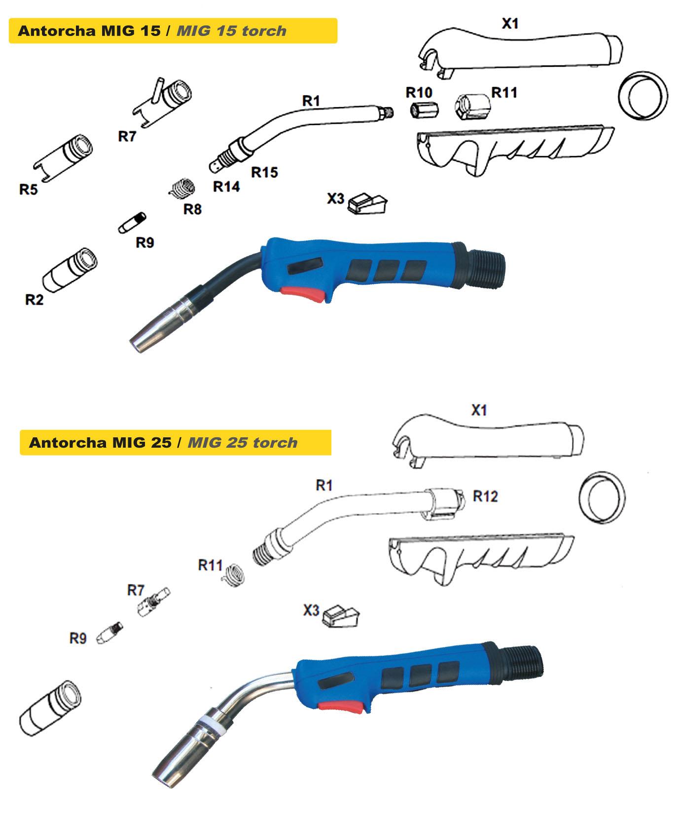 Accesorios TSD-Tecsolda para la reparación de la carrocería recambios antorchas