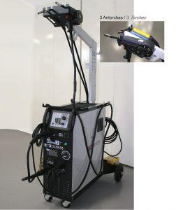 TSD-Tecsolda equipo de soldadura mig-car3 con 3 antorchas