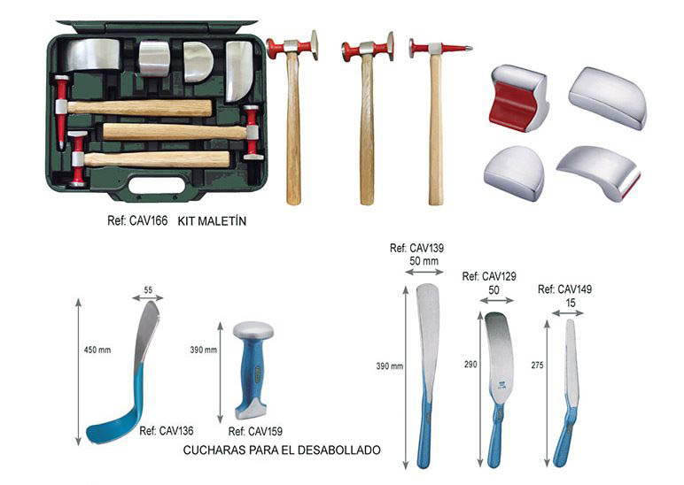 Martillos de percusión finos y tases para arreglar la carroceríay accesorios