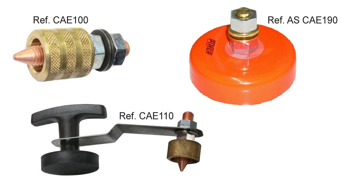 Consumibles electrodos y cabezales para el desabollado