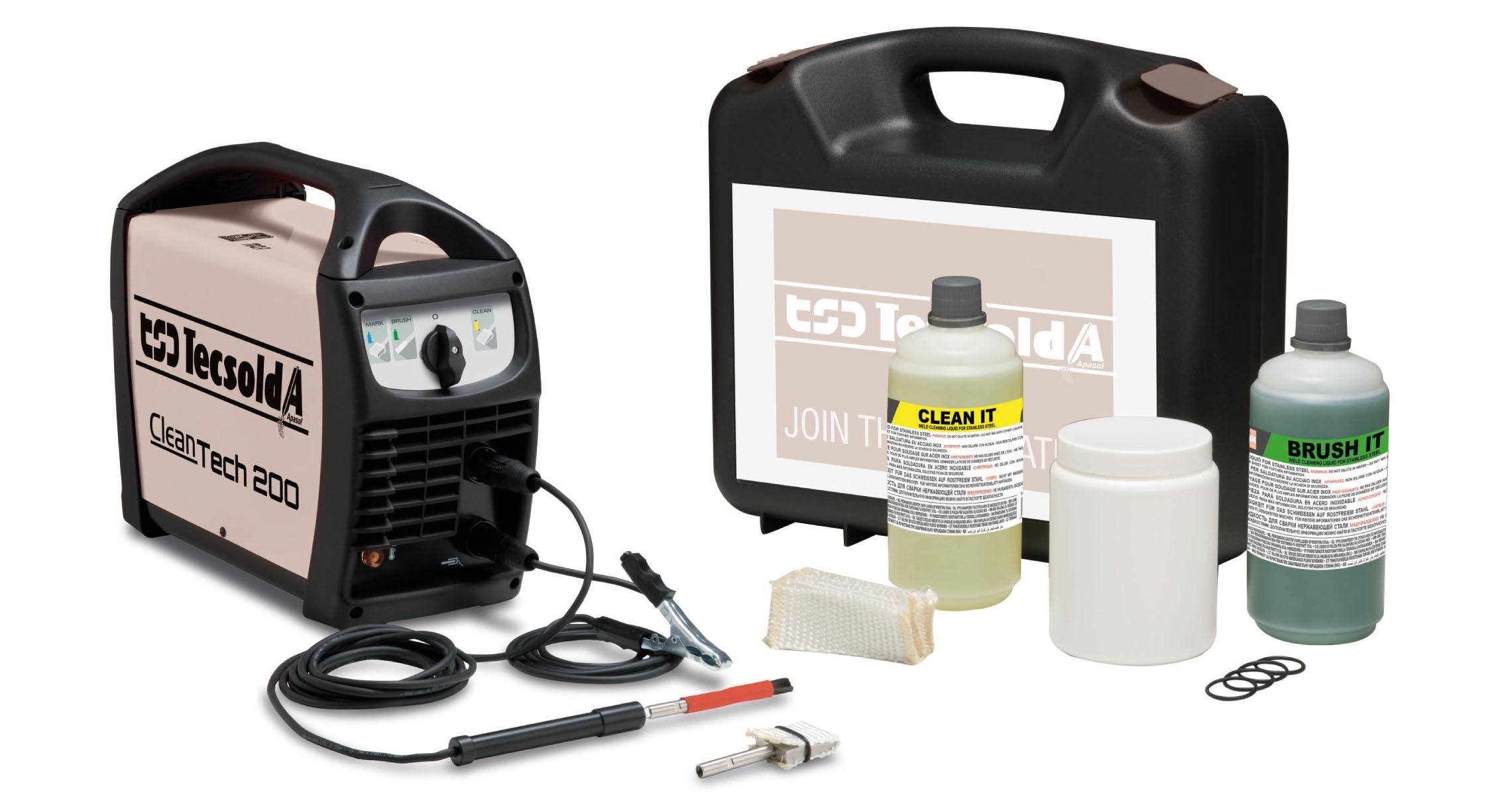 Kit de limpieza para soldadoras producto distribuido por TSD-Tecsolda