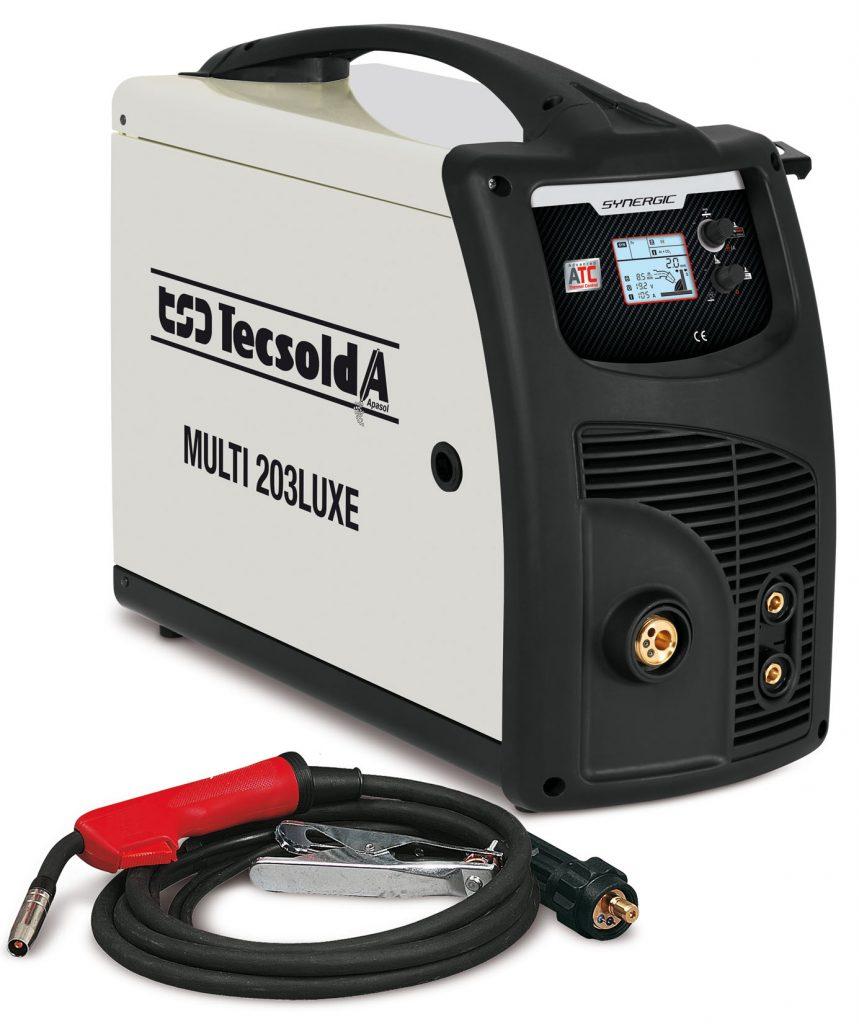 Equipo de soldadura-generador inverter mig TSD-Tecsolda Multi 203 Luxe