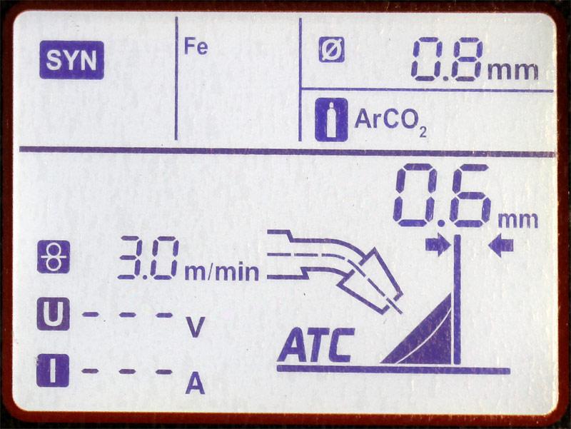 Panel de control soldadora Multi 203luxe