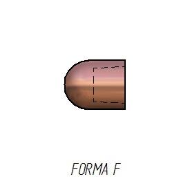 Caps soldadura por resistencia forma F