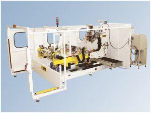 Estación robotizada de soldadura revolver
