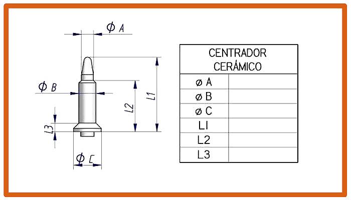 Centrador cerámico para electrodo de soldadura