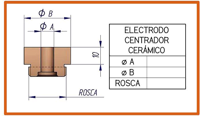 Electrodo para centrador cerámico