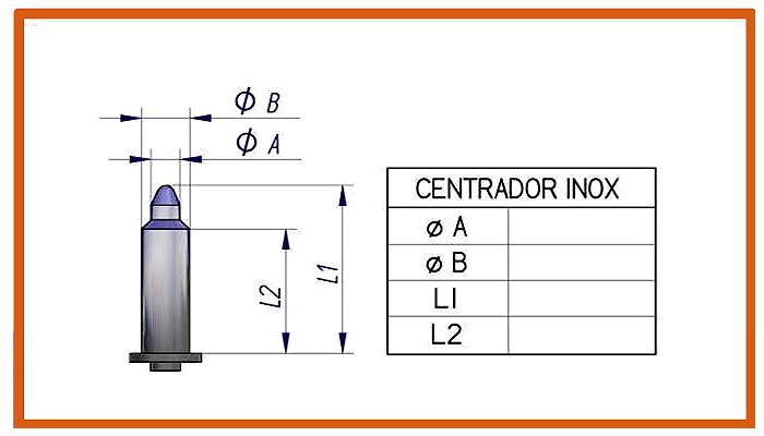 Centrador cerámico standardElectrodo con rosca para centrador